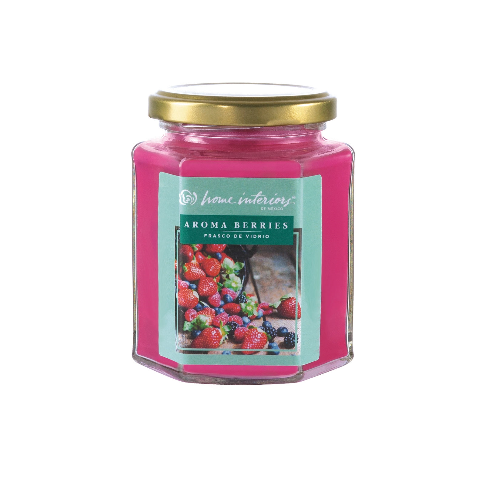 Superior 11503   Vela En Frasco De Vidrio  Aroma A Berries   Home Interiors De Mexico